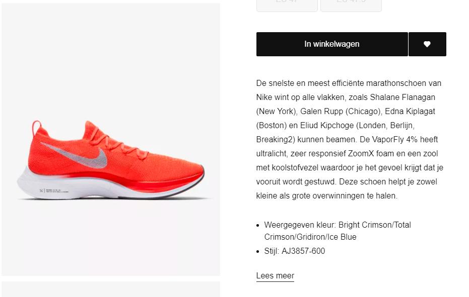 Nike VaporFly 4% Flyknit WaardePropositie