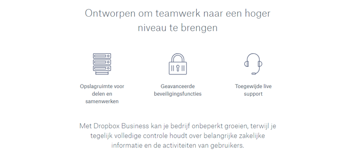 dropbox waardepropositie business 2