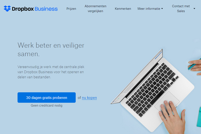 dropbox waardepropositie business
